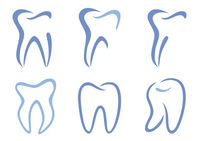 Bild vergrößern: set of abstract teeth, vector illustration